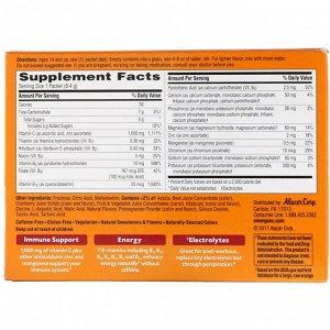 Emergen-C, Витамин С, клюква-гранат, 1000 мг, 30 пакетиков, 8,4 г (0,30 унции) в каждом пакетике
