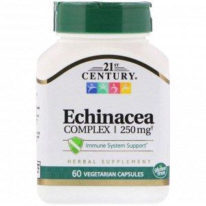 21st Century, Экстракт эхинацеи, 60 вегетарианских капсул