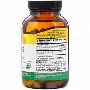 Country Life, L-лизин, 500 мг, 100 растительных капсул