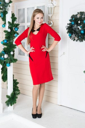 Платье 01017 (красный)