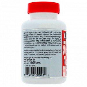 Nutrex Research, LIPO-6 CARNITINE, 60 Liquid Capsules