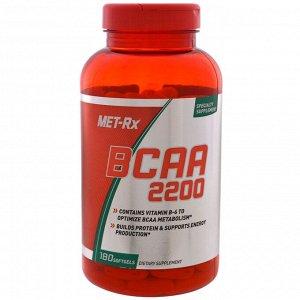 MET-Rx, BCAA 2200, 180 мягких таблеток