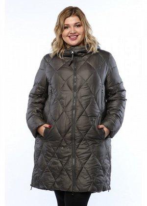 Женское пальто, А 179, Серый