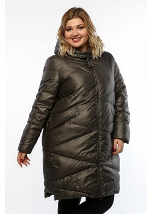 Женское пальто, А 208, Серый