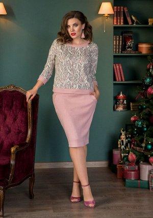 Женский комплект жакет и юбка из кашемира