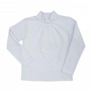 Блузка Оригинальный воротник. Материал: 92% хлопок 8% эластан, кулирка с лайкрой Размеры: 34, 36 Цвет - Белый