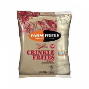 Картофель фри волнистый, 12mm /Сrinkle Frites, Фарм Фритес, 2500 г, (5)