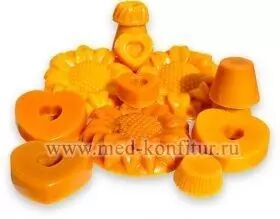 Воск порционный (формочки) от 50 до 250 гр в одной формочке (подсолнухи, цветочки, формочки, сердечки, мишки и др формы), 1кг