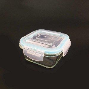 Емкость, 0,32 л, с герметичной крышкой, квадр., жаропрочное стекло 1/36