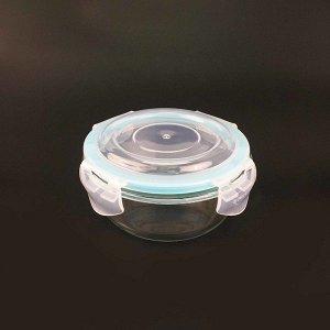 Емкость, 0,4 л, с герметичной крышкой, круглый., жаропрочное стекло 1/36