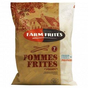Картофель фри прямой, 7 мм/Pommes Frites, Фарм Фритес, 2500 г, (5)