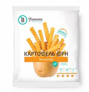 Картофель фри волнистый, Планета Витаминов, 750 г, (12)