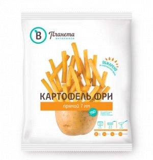 Картофель фри прямой, 7 мм, Планета Витаминов, 750 г, (12)