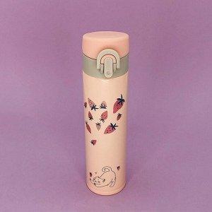 """Термос """"Strawberry"""", pink 370ml"""