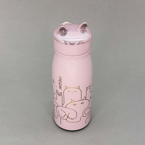 "Термос ""Many cats"", pink 380ml"