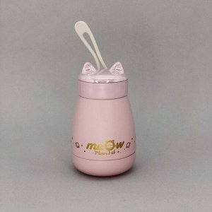 "Термос ""MEOW"", pink (260ml)"