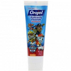 Orajel, Зубная паста с фтором против кариеса  - Щенячий патруль - , с пенообразующими ингредиентами, 119 г (4,2 унции)