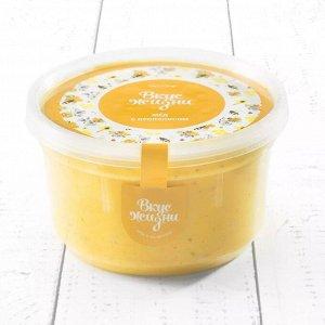 Крем-мёд с кусочками прополиса в пластиковой банке Вкус Жизни New 300 гр.