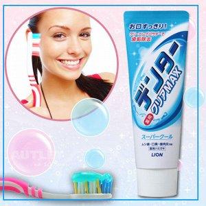 "LION Зубная паста ""Dental Clear MAX"" освежающая мята, вертикальная туба"