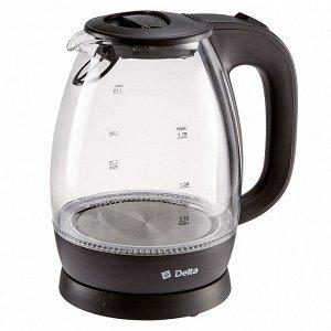Чайник электрический 2200 Вт, 1,7 л DELTA DL-1203 черный
