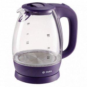 Чайник электрический 2200 Вт, 1,7 л DELTA DL-1203 фиолетовый