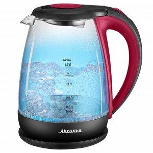 Чайник электрический 2200 Вт, 1,7 л АКСИНЬЯ КС-1040 красный с черным