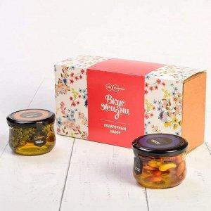 """Подарочный набор """"Вкус Жизни"""" тыквенные семечки, ассорти: миндаль, кешью, фундук в меду"""