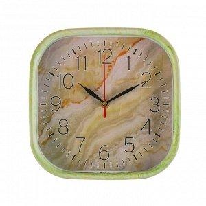 """Часы настенные, серия: Классика, """"Оникс"""", квадратные, 22х22 см"""