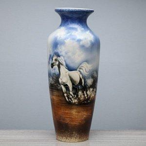 """Ваза напольная """"Виктория"""", белый конь, небо, 69 см"""