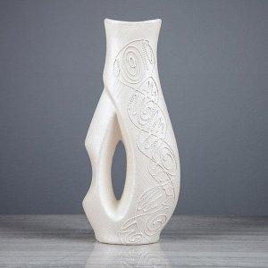 """Ваза настольная """"Грета"""" 39 см. перламутровая. керамика"""