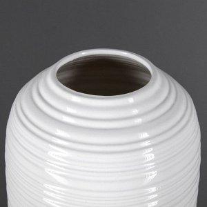 """Ваза настольная """"Дерби"""" глянец. белая. 26 см. керамика"""