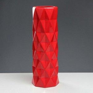 """Ваза напольная """"Поли"""" красная. глазурь. 41 см. керамика"""