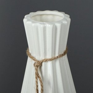 "Ваза напольная ""Модерн"". глянец. белая. 40 см. керамика"