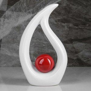 """Ваза настольная """"Факел"""", бело-красная"""