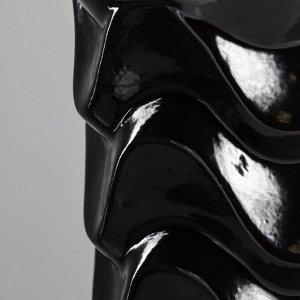 """Ваза напольная """"Мадиган"""". чёрная. 40 см. керамика"""