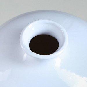 """Ваза настольная """"Милита"""". белая. 21 см. керамика"""