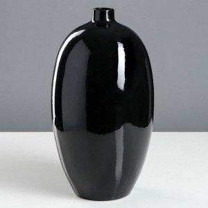 """Ваза настольная """"Палерма"""". черная. 32 см. керамика"""