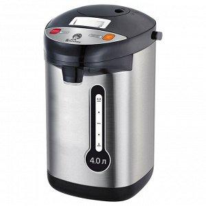 Чайник-термос электрический 800 Вт, 4 л ВАСИЛИСА ВА-5008 нержавеющая сталь