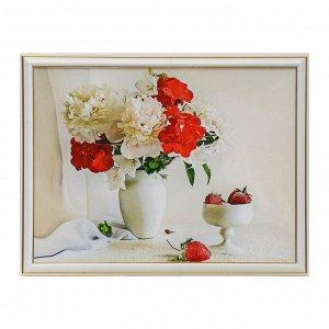 "Картина ""Пионы в вазе"" 33х43 см"