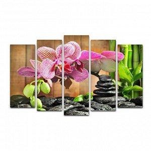 """Картина модульная на подрамнике """"Орхидея"""" 125*80 см"""