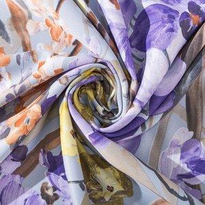 """Штора портьерная Этель """"Акварель"""" цв.фиолетовый. 145*265 см. пл. 210 г/м2. 100 п/э"""