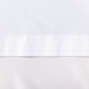 """Штора портьерная Этель """"Акварель"""" цв.коралловый. 250*265 см. пл. 210 г/м2. 100 п/э"""