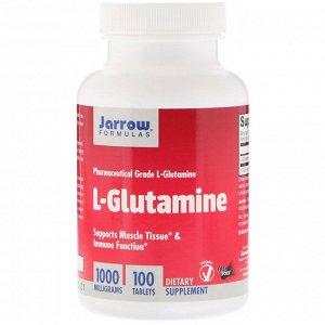 Jarrow Formulas, L-Glutamine, 1000 мг, 100 таблеток