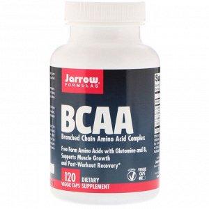 Jarrow Formulas, BCAA, Branched Chain Amino Acid Complex, 120 растительных капсул