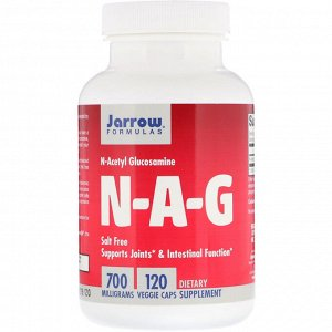 Jarrow Formulas, NAG, 700 мг, 120 растительных капсул