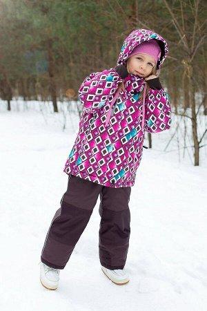 Комплект  текстильный для девочек: куртка, полукомбинезон