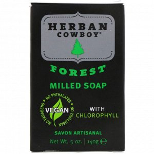 Herban Cowboy, Пилированное мыло, запах леса, 5 унц. (140 г)