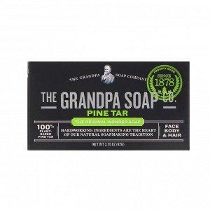Grandpa&#x27 - s, Мыло для лица, тела и волос, сосновый деготь, 92 г (3,25 унции)