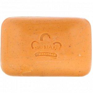 Nubian Heritage, Кусковое мыло с медом и черным тмином, 142 г