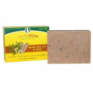 Organix South, TheraNeem Naturals, Neem Therapé Cleansing Bar, Neem Leaf, Oil & Bark, 4 oz (113 g)